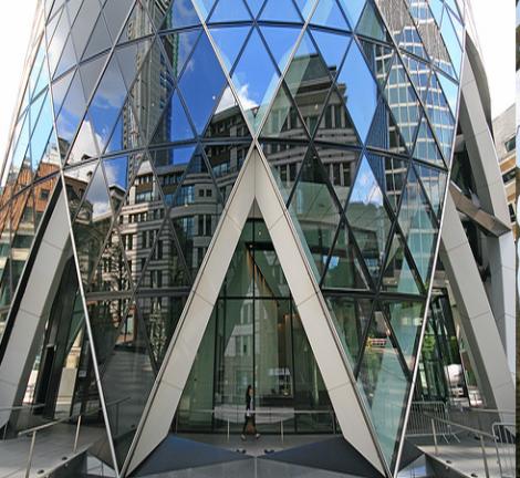 The Gherkin, London.